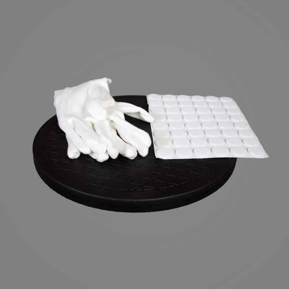 3D Scan Drehteller Handschuhe Hilfsmittel