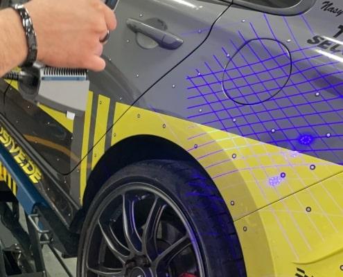 3D-Laser-Scanning von Fahrzeugen zur Entwicklung von Carbonteilen